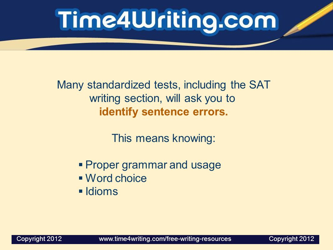identify sentence errors.
