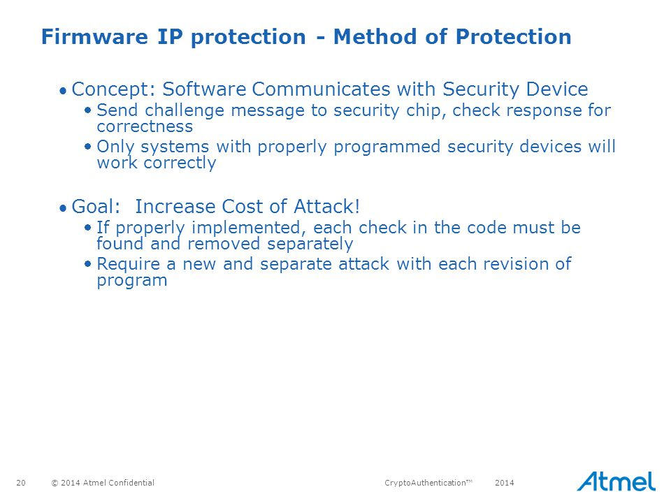 Firmware IP protection - Method of Protection