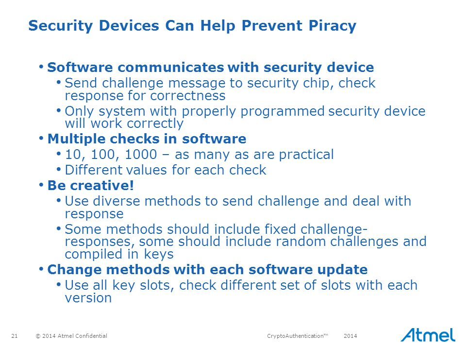 Security Devices Can Help Prevent Piracy