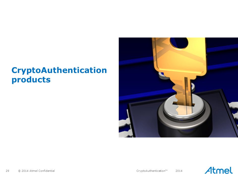 CryptoAuthentication products