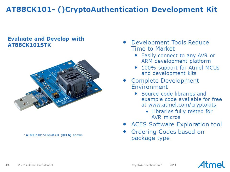 AT88CK101- ()CryptoAuthentication Development Kit