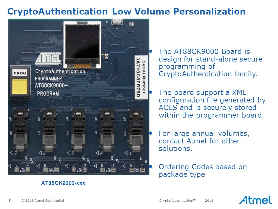 CryptoAuthentication Low Volume Personalization