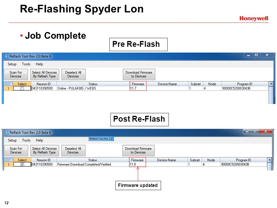 Re-Flashing Spyder Lon