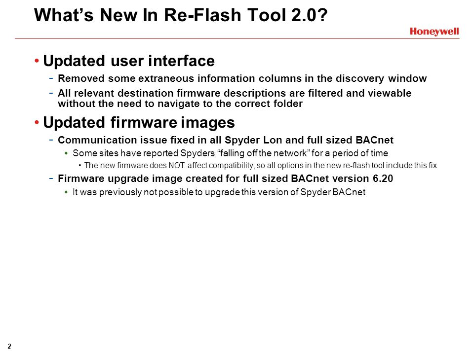 What's New In Re-Flash Tool 2.0