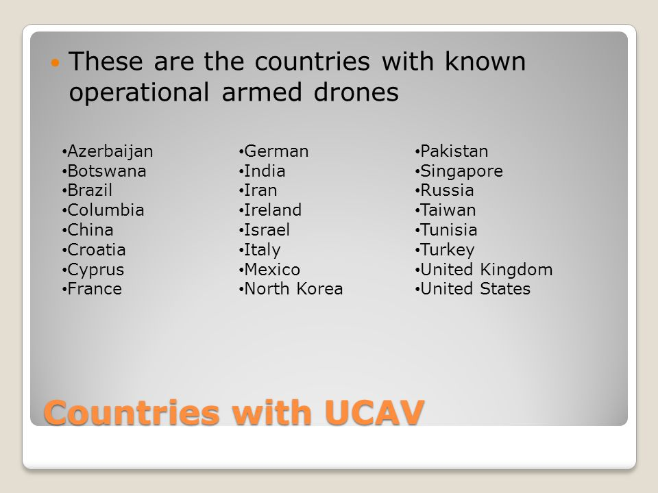 These are the countries with known operational armed drones