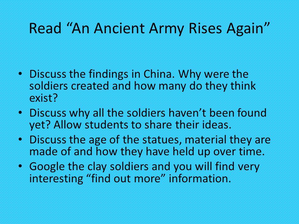 Read An Ancient Army Rises Again