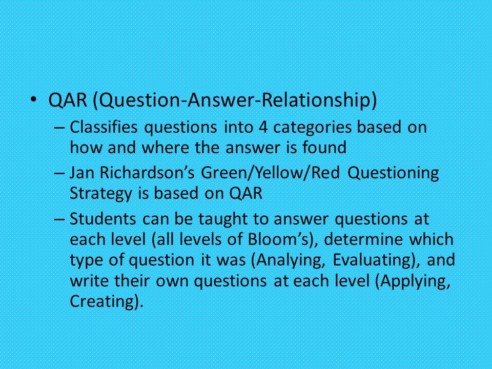 QAR (Question-Answer-Relationship)