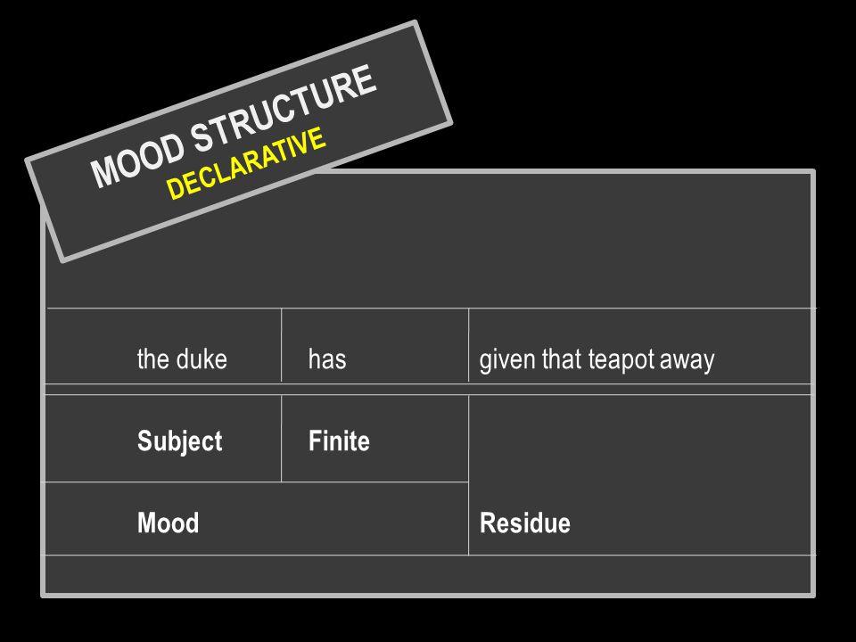 MOOD STRUCTURE DECLARATIVE