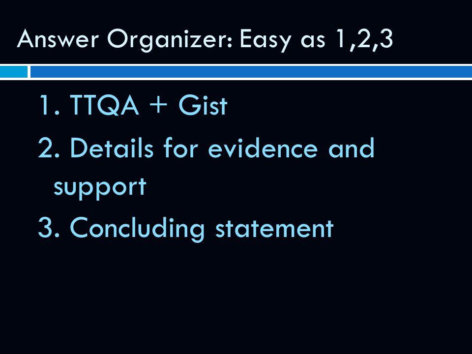 Answer Organizer: Easy as 1,2,3