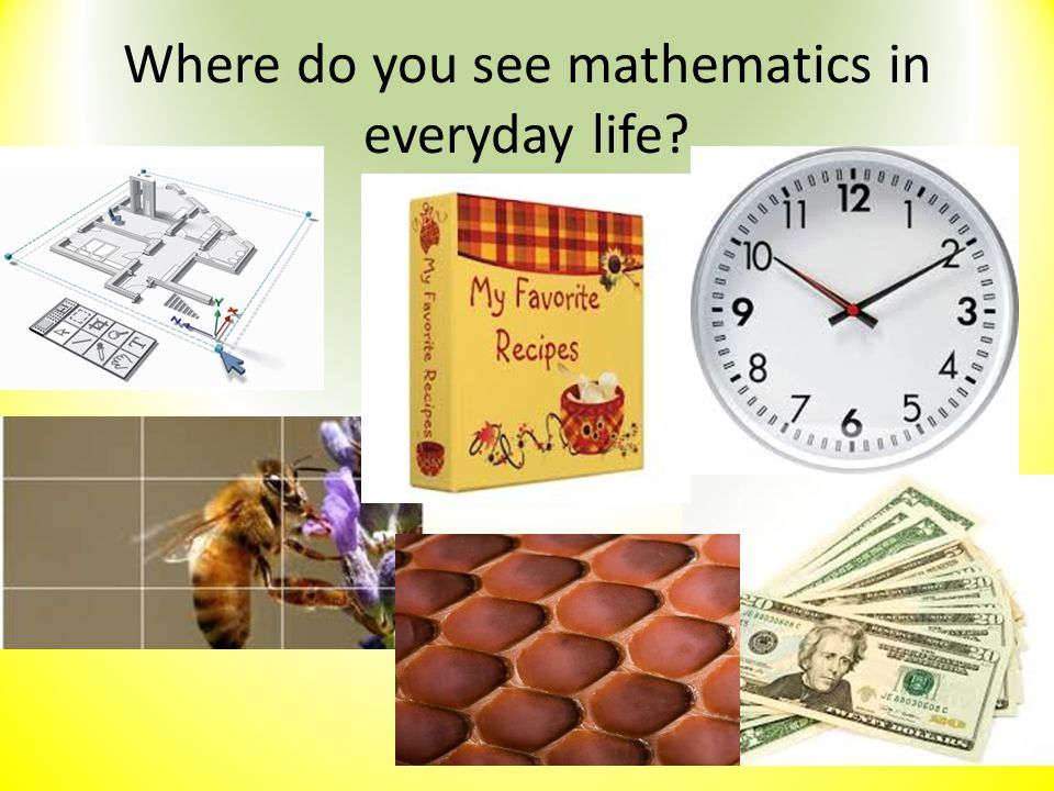 Where do you see mathematics in everyday life