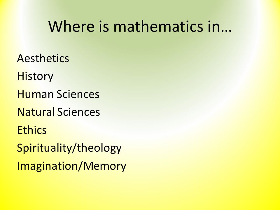 Where is mathematics in…