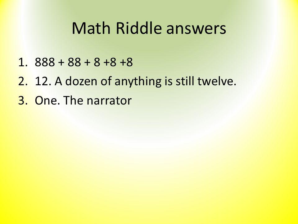 Math Riddle answers 888 + 88 + 8 +8 +8