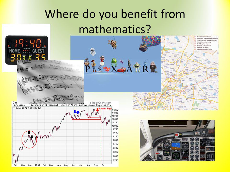 Where do you benefit from mathematics