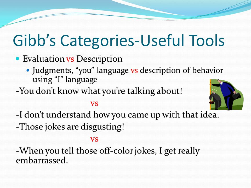 Gibb's Categories-Useful Tools