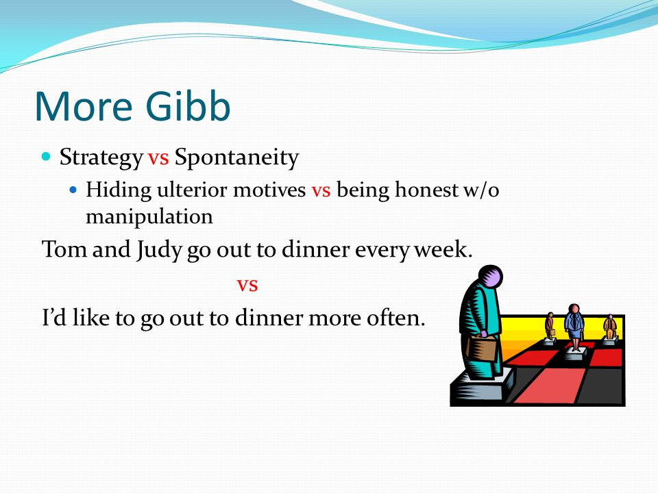 More Gibb Strategy vs Spontaneity