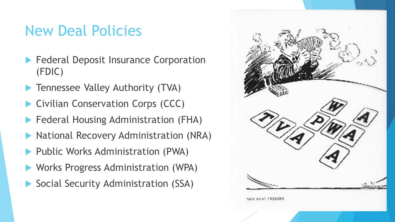 New Deal Policies Federal Deposit Insurance Corporation (FDIC)