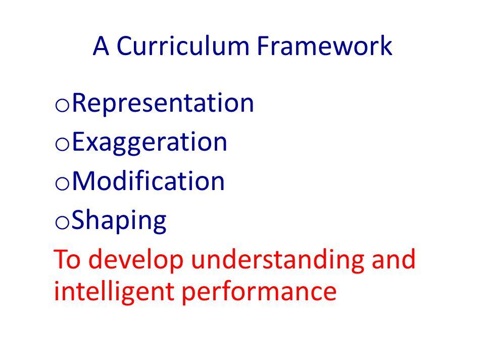A Curriculum Framework