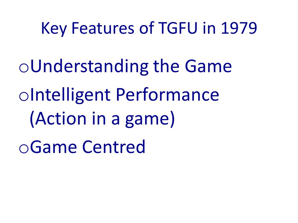 Understanding the Game Intelligent Performance (Action in a game)