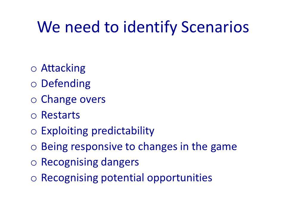We need to identify Scenarios