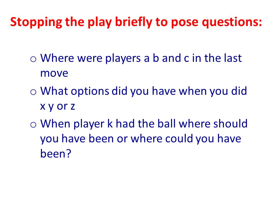 Stopping the play briefly to pose questions: