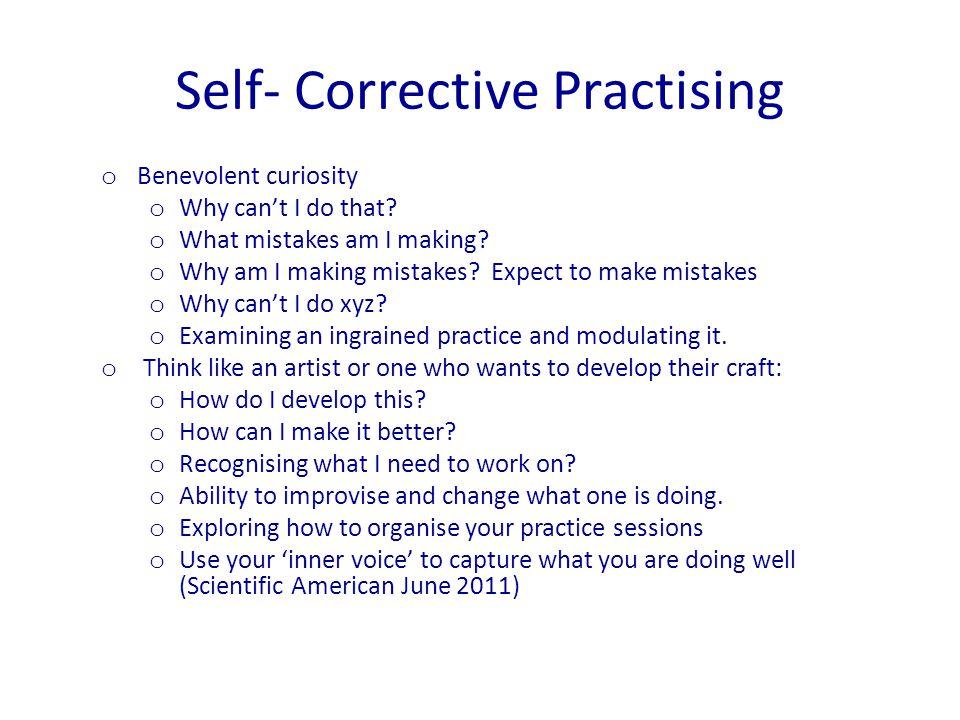 Self- Corrective Practising