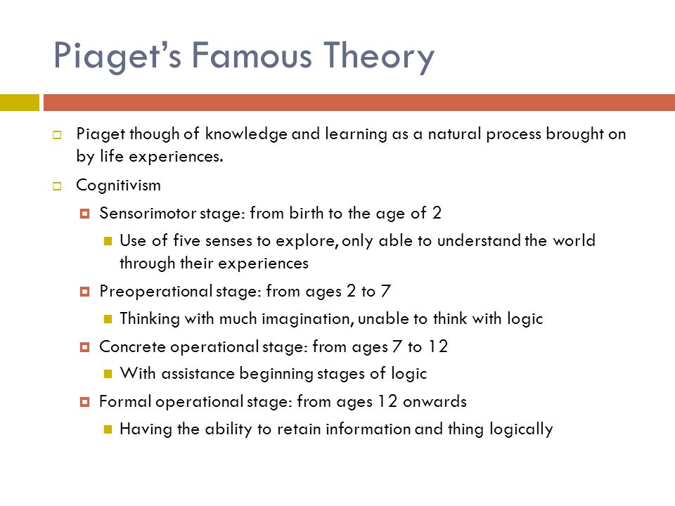 Piaget's Famous Theory