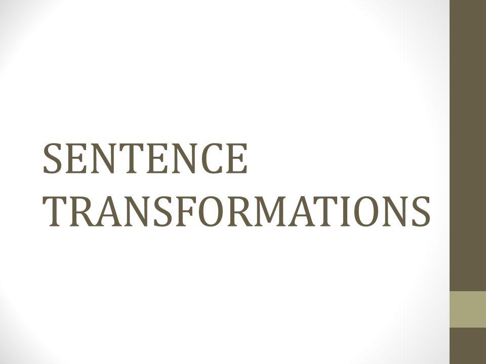 SENTENCE TRANSFORMATIONS