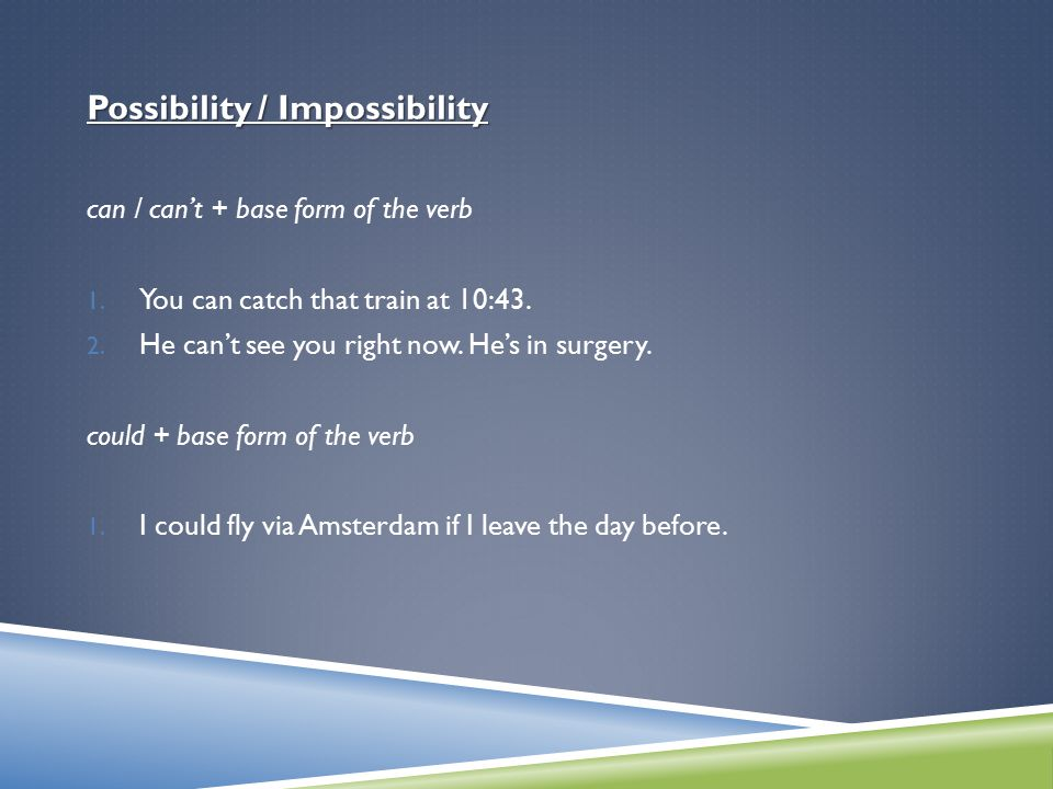 Possibility / Impossibility