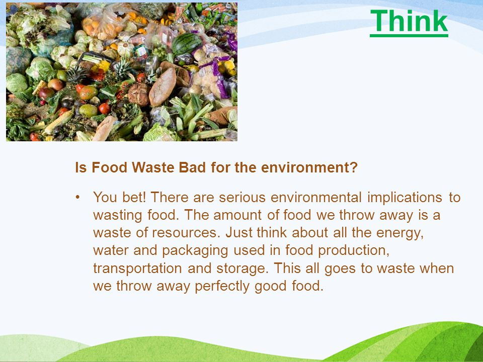 Think Is Food Waste Bad for the environment