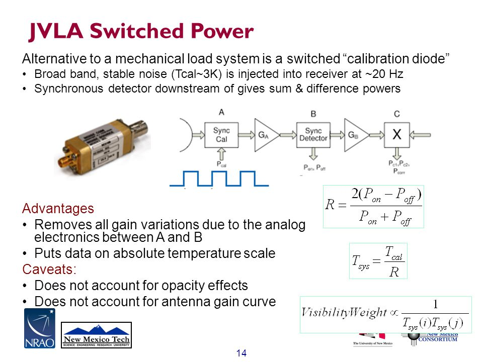 JVLA Switched Power Alternative to a mechanical load system is a switched calibration diode