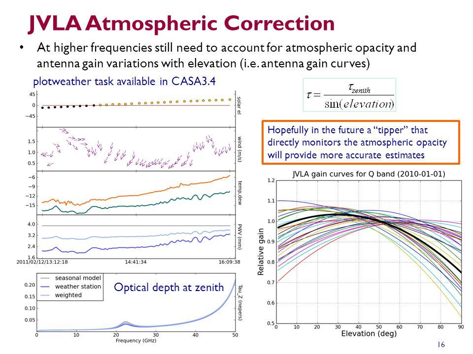 JVLA Atmospheric Correction