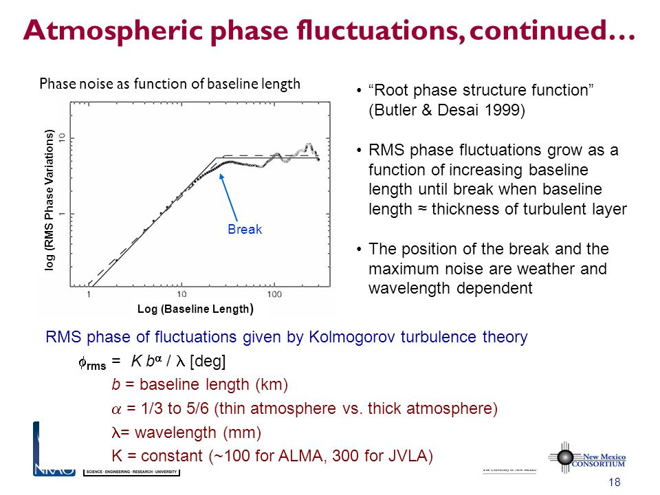Atmospheric phase fluctuations, continued…
