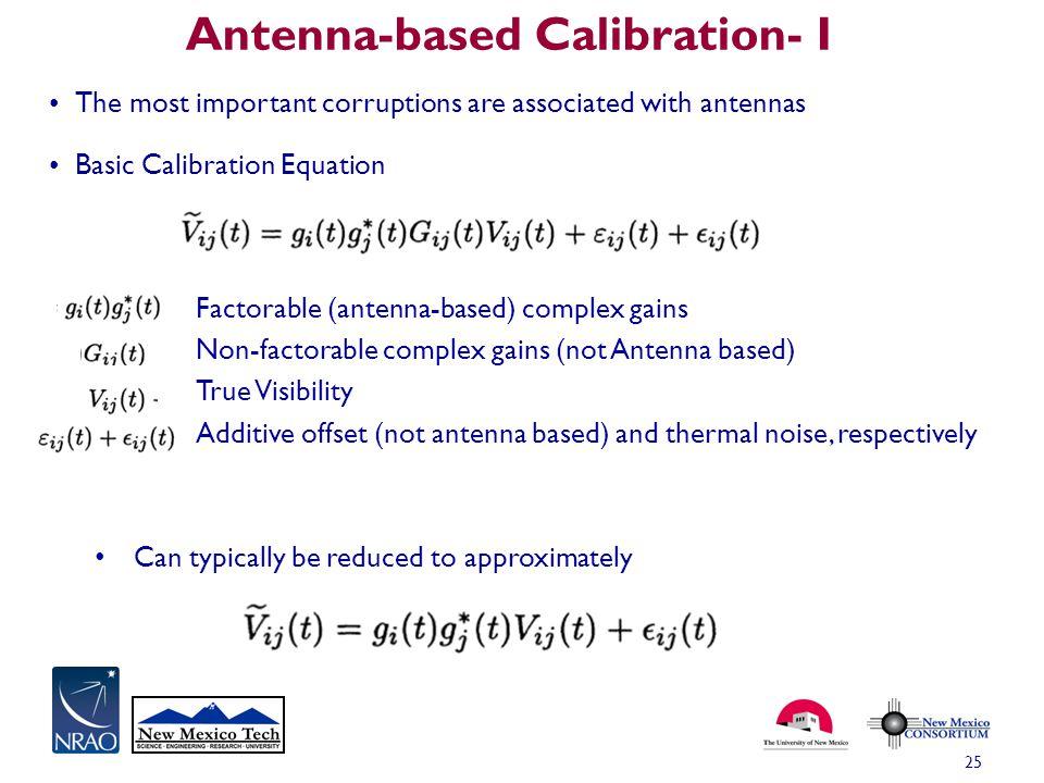 Antenna-based Calibration- I