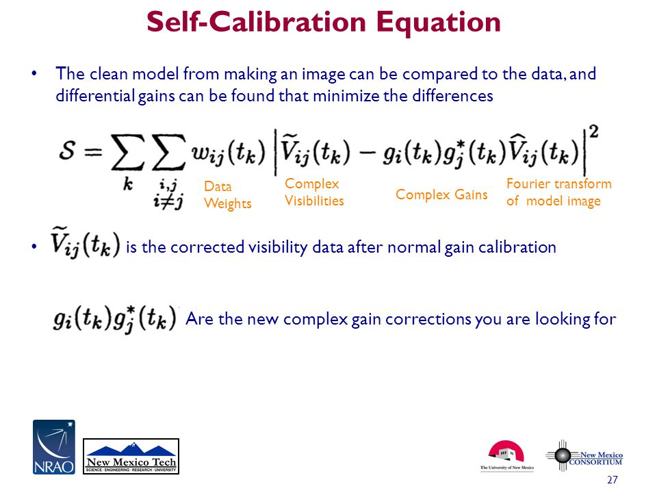 Self-Calibration Equation