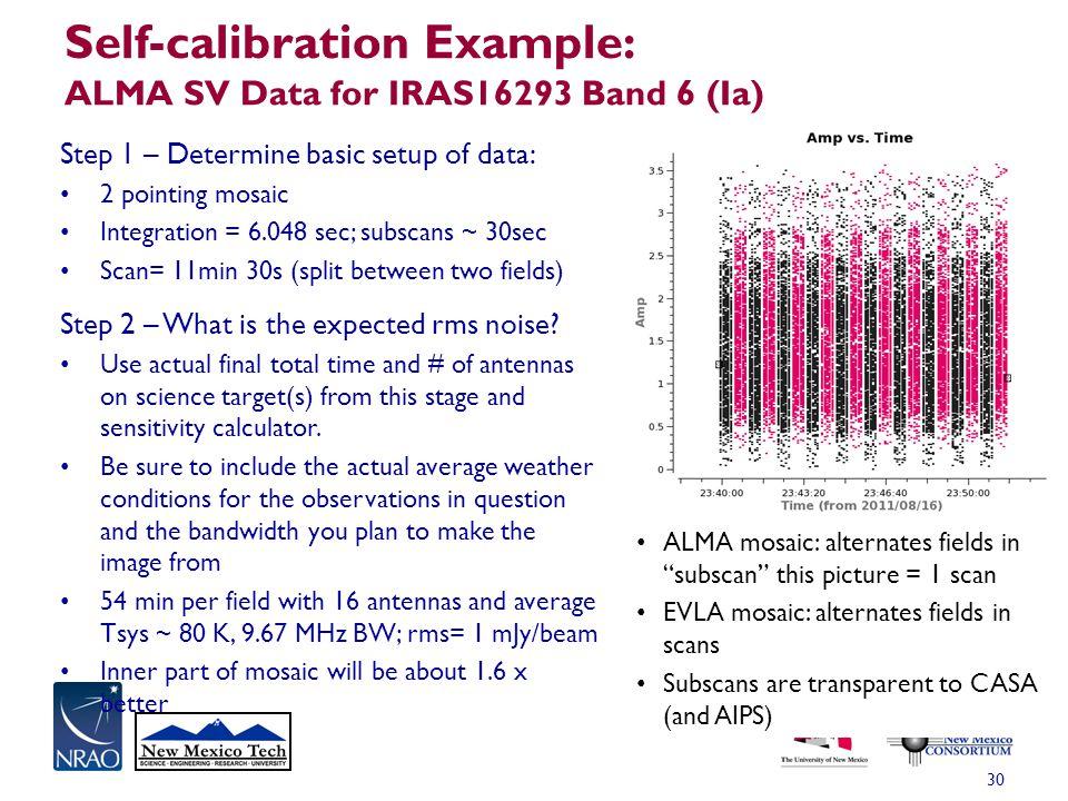 Self-calibration Example: ALMA SV Data for IRAS16293 Band 6 (Ia)