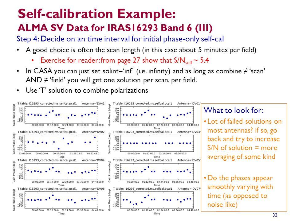 Self-calibration Example: ALMA SV Data for IRAS16293 Band 6 (III)