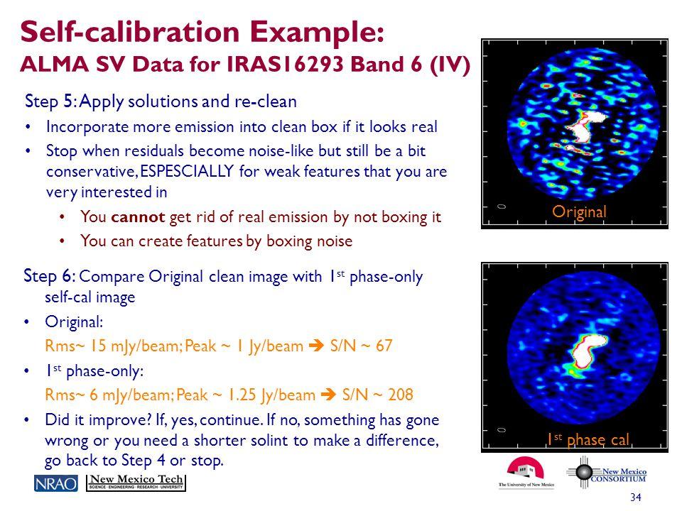 Self-calibration Example: ALMA SV Data for IRAS16293 Band 6 (IV)