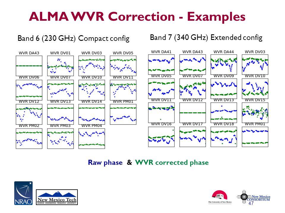 ALMA WVR Correction - Examples