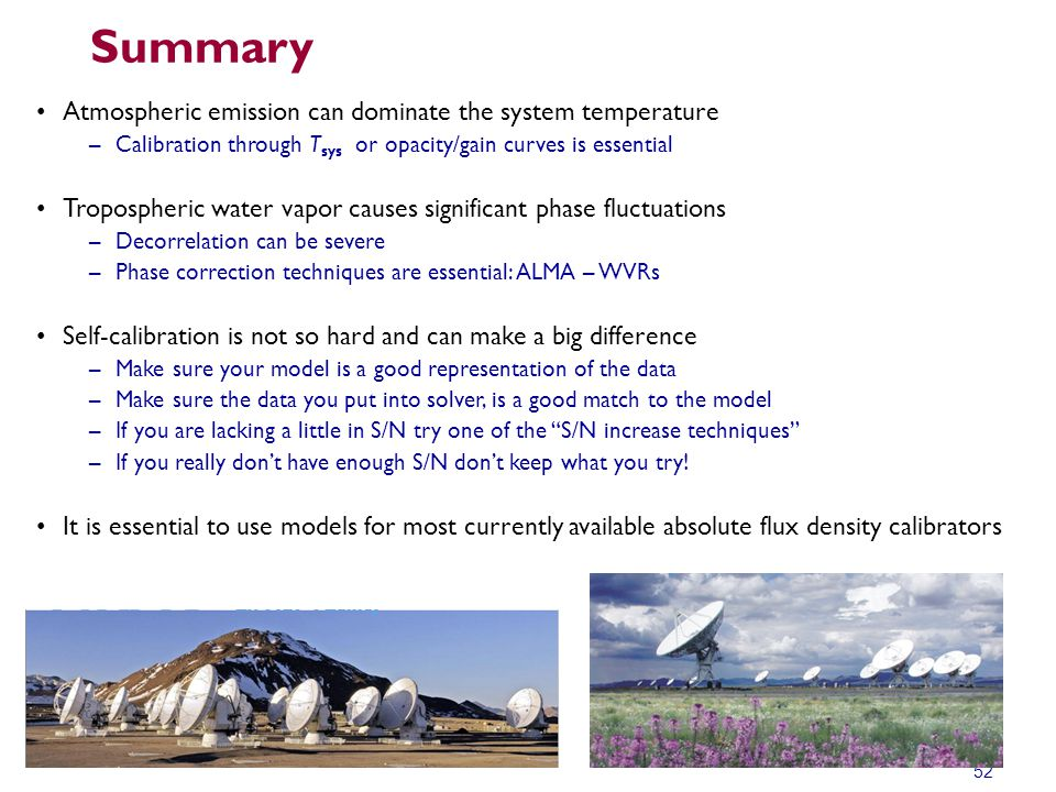 Summary Atmospheric emission can dominate the system temperature