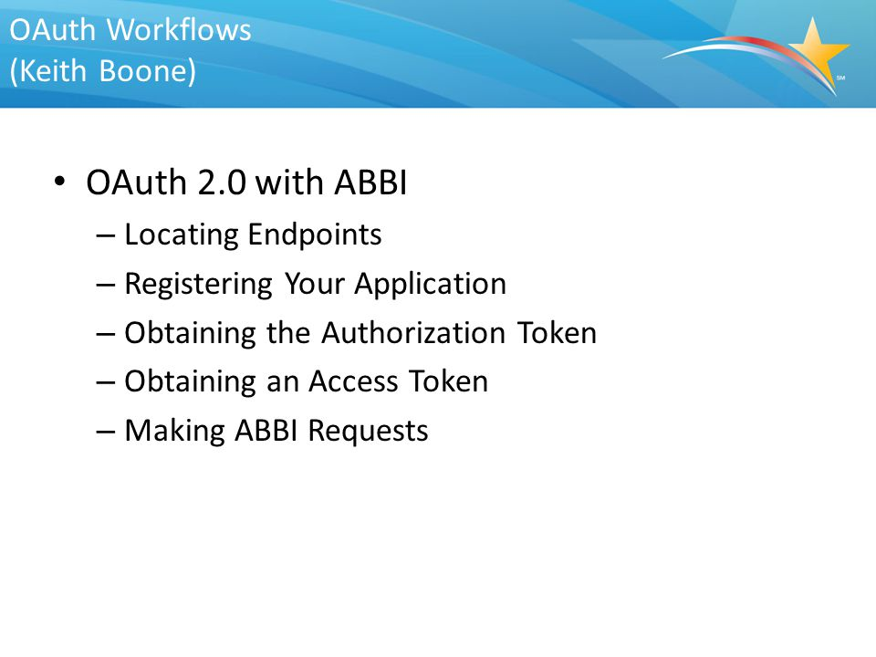 OAuth Workflows (Keith Boone)