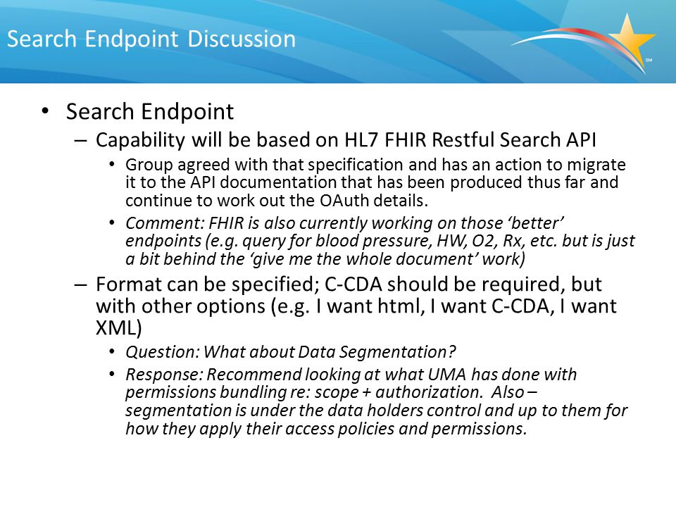 Search Endpoint Discussion