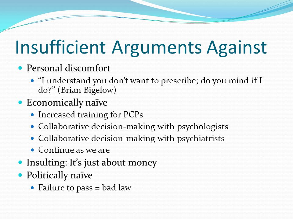 Insufficient Arguments Against