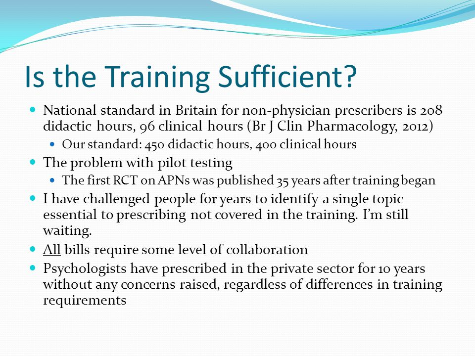 Is the Training Sufficient