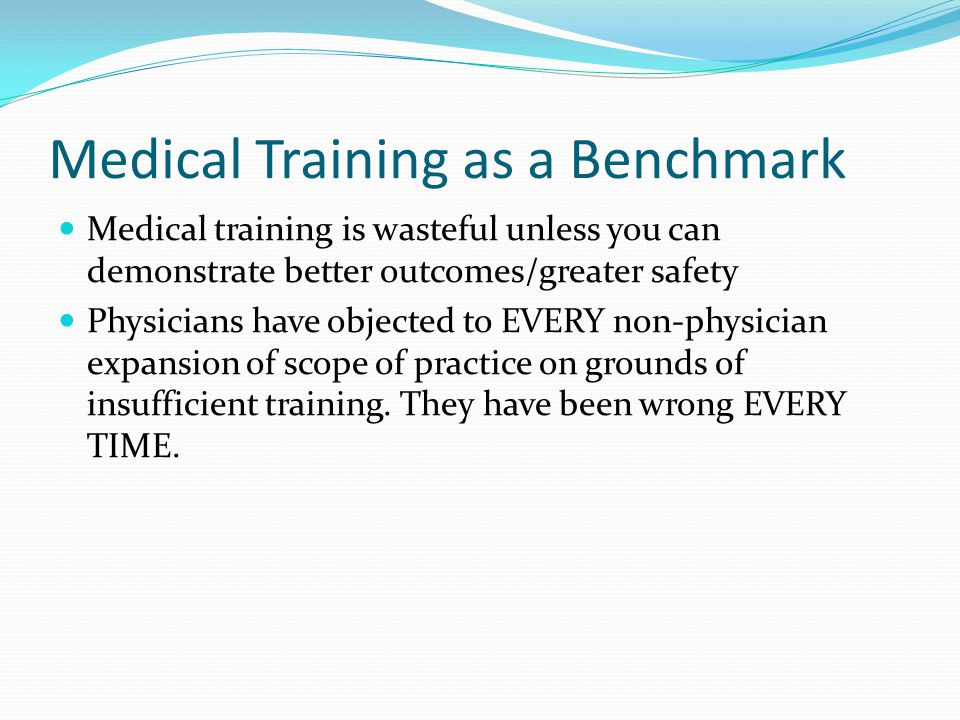 Medical Training as a Benchmark
