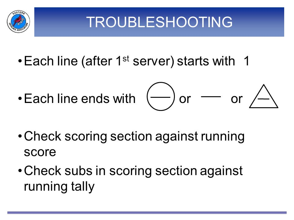 TROUBLESHOOTING Each line (after 1st server) starts with 1