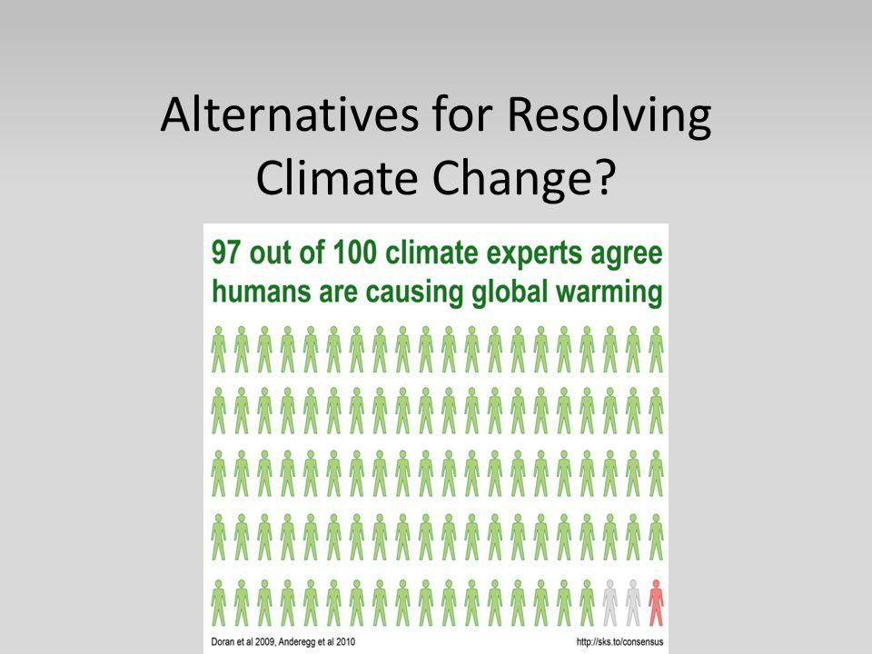 Alternatives for Resolving Climate Change
