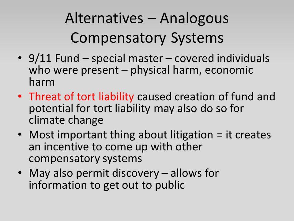 Alternatives – Analogous Compensatory Systems