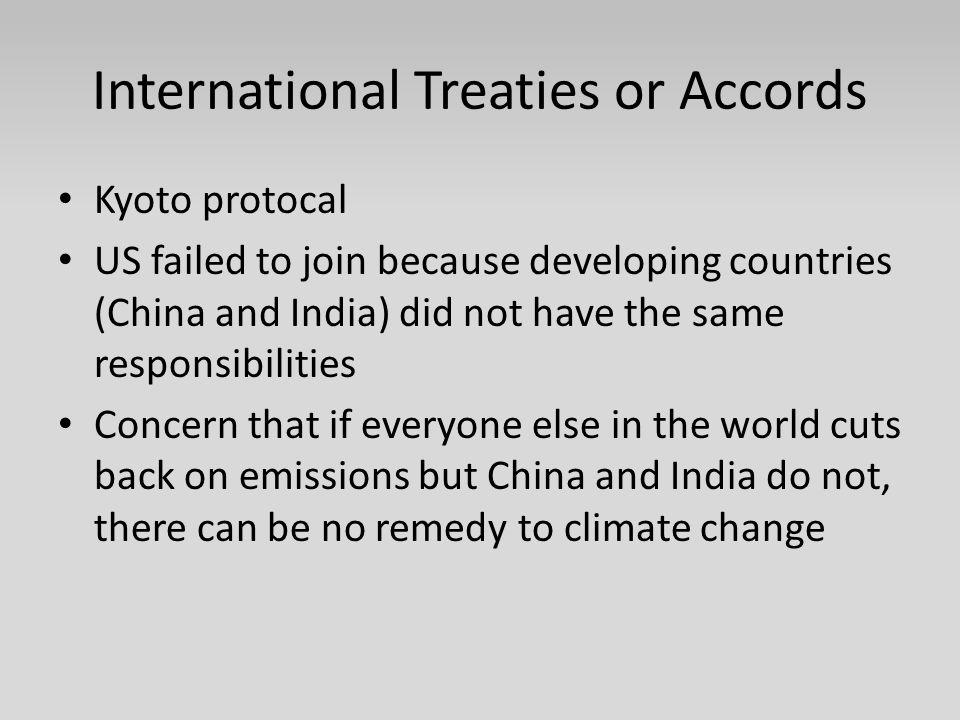 International Treaties or Accords