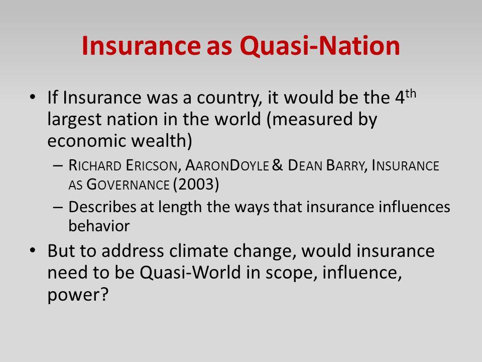 Insurance as Quasi-Nation