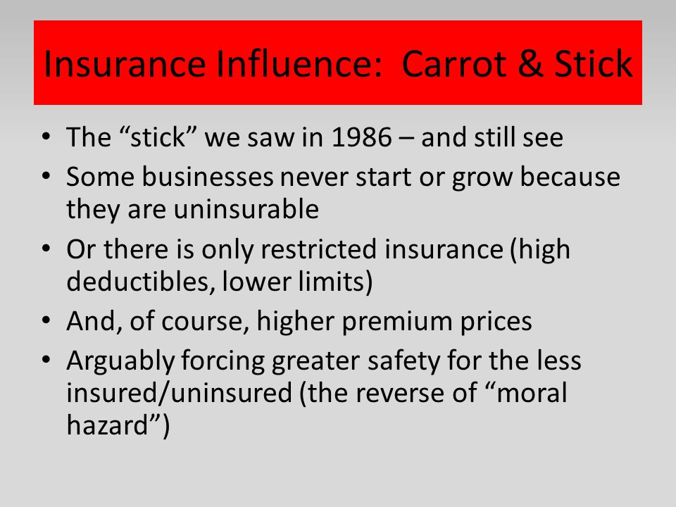 Insurance Influence: Carrot & Stick